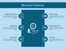Revenue Sources Ppt Slides Show