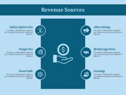 Revenue Sources Ppt Slides Show