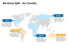Revenue Split By Country Locations Geography Ppt Powerpoint Presentation Layouts Gallery