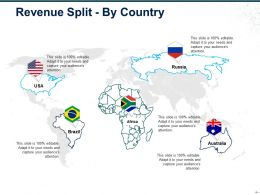 Revenue Split By Country Ppt Icon