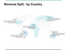 Revenue Split By Country Ppt Powerpoint Presentation Gallery Professional