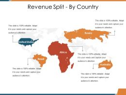 Revenue Split By Country Ppt Visual Aids Ideas