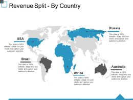 Revenue Split By Country Ppt Visual Aids Portfolio