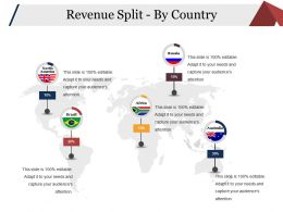 Revenue Split By Country Sample Ppt Files