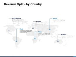 Revenue Split By Country World Ppt Powerpoint Presentation Pictures Format