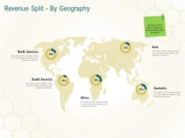 Revenue Split By Geography Business Planning Actionable Steps Ppt Diagrams