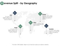 Revenue Split By Geography Informations Ppt Powerpoint Presentation Outline Template