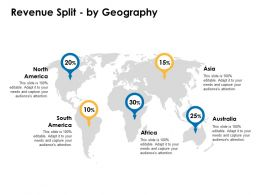 Revenue Split By Geography Location Information Ppt Powerpoint Layouts Template