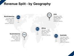Revenue Split By Geography Location Information Ppt Powerpoint Presentation Slides Show