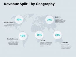 Revenue Split By Geography Location Ppt Powerpoint Presentation Icon Display