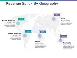 Revenue Split By Geography Ppt Infographic Template Visual Aids