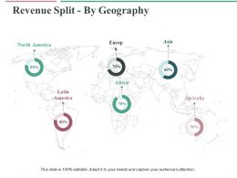Revenue Split By Geography Ppt Professional Slideshow