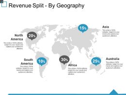 Revenue Split By Geography Ppt Visual Aids Pictures