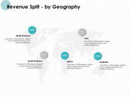 Revenue Split By Geography World Ppt Powerpoint Presentation File Portrait
