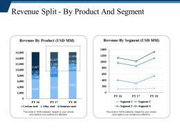 Revenue Split By Product And Segment Powerpoint Themes