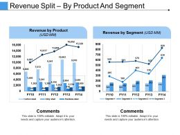 Revenue Split By Product And Segment Ppt Examples Slides