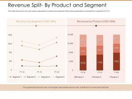Revenue Split By Product And Segment Ppt Powerpoint Presentation Model