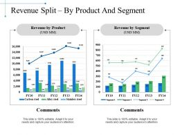 Revenue Split By Product And Segment Ppt Slide Template