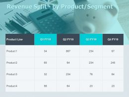 Revenue Split By Product Segment Calculator Ppt Powerpoint Presentation Icon Format