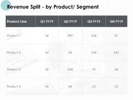 Revenue Split By Product Segment Management Ppt Powerpoint Presentation
