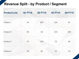 Revenue Split By Product Segment Marketing Management Ppt Powerpoint Presentation Slide