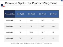 Revenue Split By Product Segment Ppt Icon Inspiration