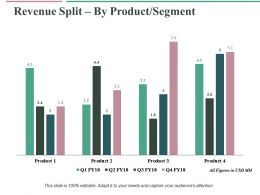 Revenue Split By Product Segment Ppt Professional Vector
