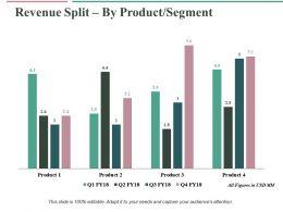 Revenue Split By Product Segment Ppt Professional Vector