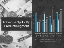 Revenue Split By Product Segment Ppt Summary Icons
