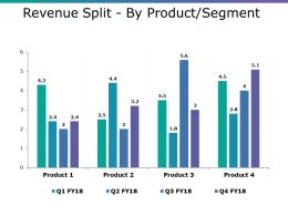 Revenue Split By Product Segment Ppt Summary Skills