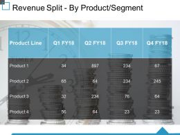 Revenue Split By Product Segment Ppt Visual Aids Outline