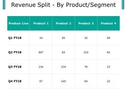 Revenue Split By Product Segment Presentation Visuals