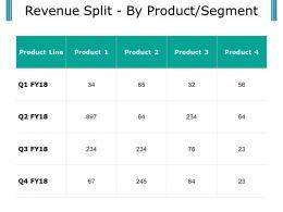 Revenue Split By Product Segment Presentation Visuals