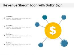 Revenue Stream Icon With Dollar Sign