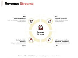 Revenue Streams Ppt Powerpoint Presentation Inspiration Model
