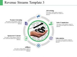 Revenue Streams Template Powerpoint Shapes