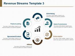 Revenue Streams Template Powerpoint Slide Presentation Examples