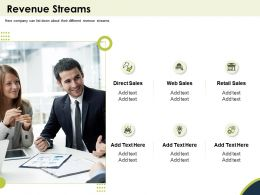 Revenue Streams Web Sales Ppt Powerpoint Presentation Objects