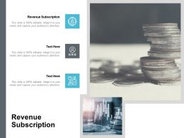 Revenue Subscription Ppt Powerpoint Presentation Model Example Introduction Cpb