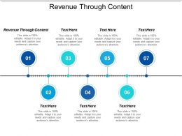 Revenue Through Content Ppt Powerpoint Presentation Slides Maker Cpb