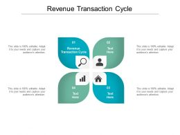 Revenue Transaction Cycle Ppt Powerpoint Presentation Infographic Template Design Templates Cpb