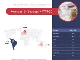 Revenues By Geography Fy19 20 Ppt Powerpoint Presentation Ideas Show