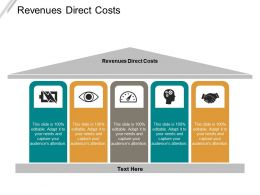 Revenues Direct Costs Ppt Powerpoint Presentation Icon Slides Cpb