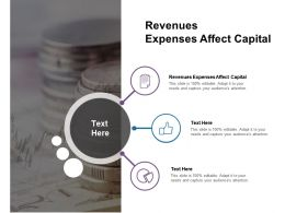 Revenues Expenses Affect Capital Ppt Powerpoint Presentation Styles Information Cpb