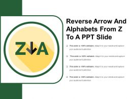 Reverse Arrow And Alphabets From Z To A Ppt Slide