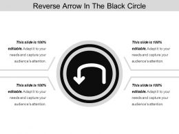 Reverse Arrow In The Black Circle