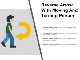 Reverse Arrow With Moving And Turning Person