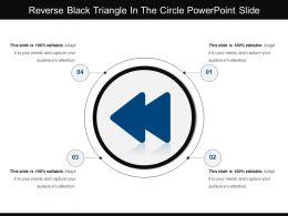 Reverse Black Triangle In The Circle Powerpoint Slide