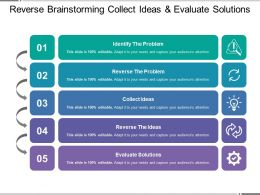Reverse Brainstorming Collect Ideas And Evaluate Solutions