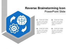 Reverse Brainstorming Icon Powerpoint Slide